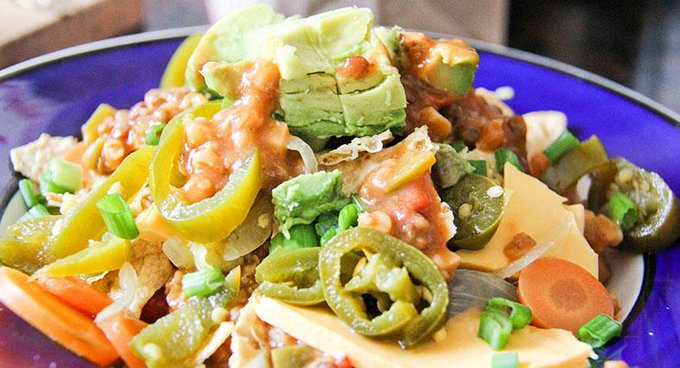 Oven-Roasted Vegetable Nachos