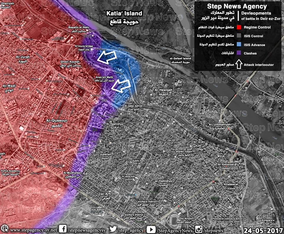 E. #Syria: map of #ISIS gains in #DeirEzzor (N. front) based on preliminary reports. https://t.co/47kwhAaErq https://t.co/P2eyOQ6F1C