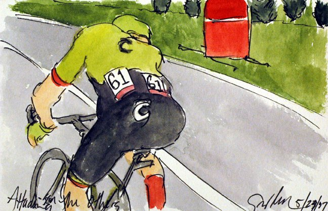 @Ride_Argyle @pierrerolland gets a few secs more #Giro100 #cycling #art @  http:// theartofcycling.blogspot.com  &nbsp;   #cyclisme #livre  http:// kck.st/2pd3lfT  &nbsp;  <br>http://pic.twitter.com/w4U2BQVbU4