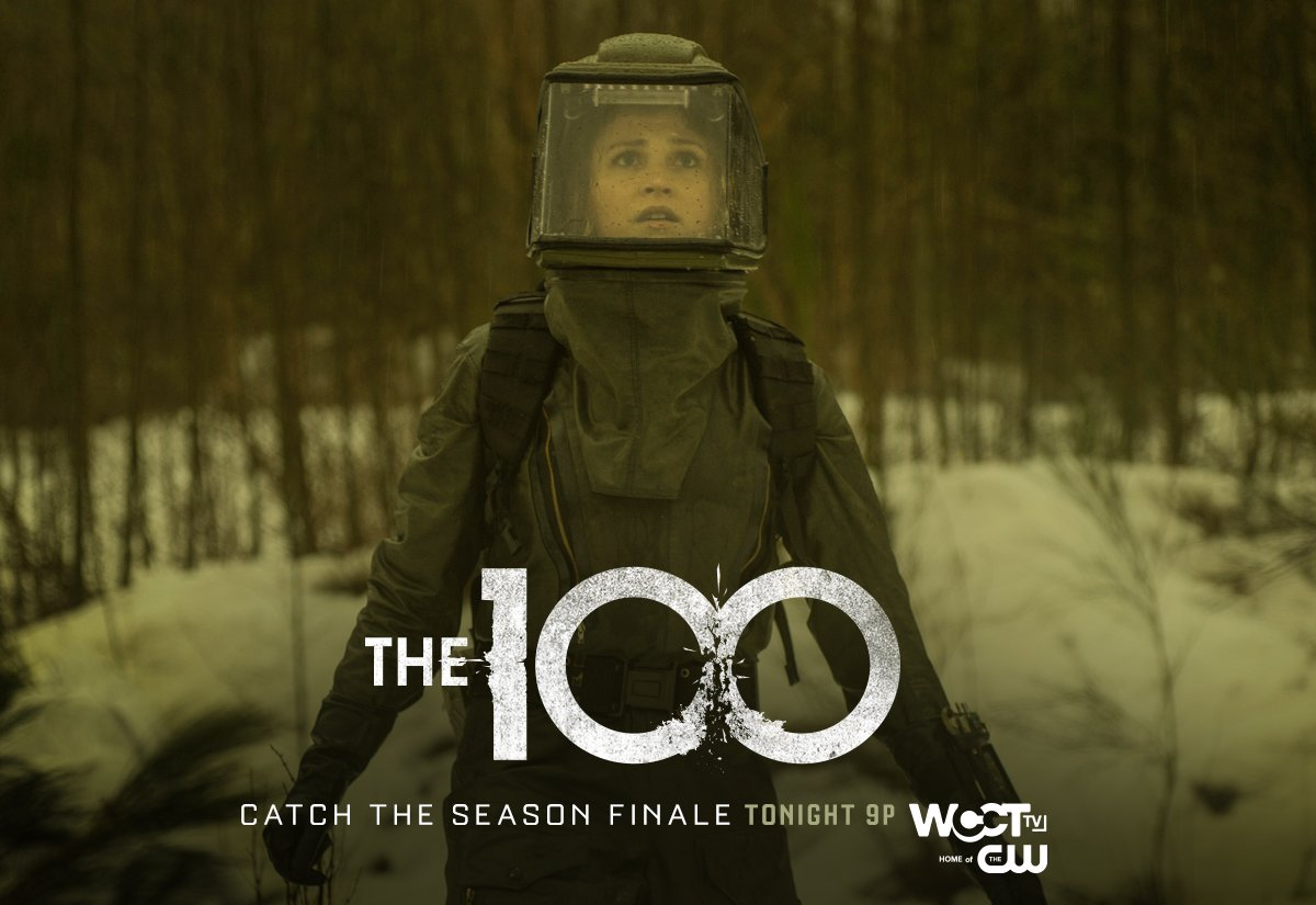 Tension rises as death comes for #the100 on the SEASON FINALE tonight at 9p on @WCCTtv! https://t.co/04SLjpXTeq