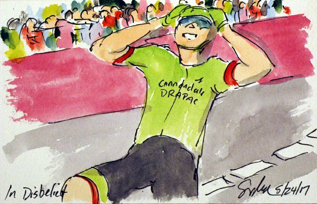 @Ride_Argyle @pierrerolland wins the 17th stage, more #Giro100 #cycling #art @  http:// theartofcycling.blogspot.com  &nbsp;   #cyclisme  http:// kck.st/2pd3lfT  &nbsp;  <br>http://pic.twitter.com/1L2dnII0yT