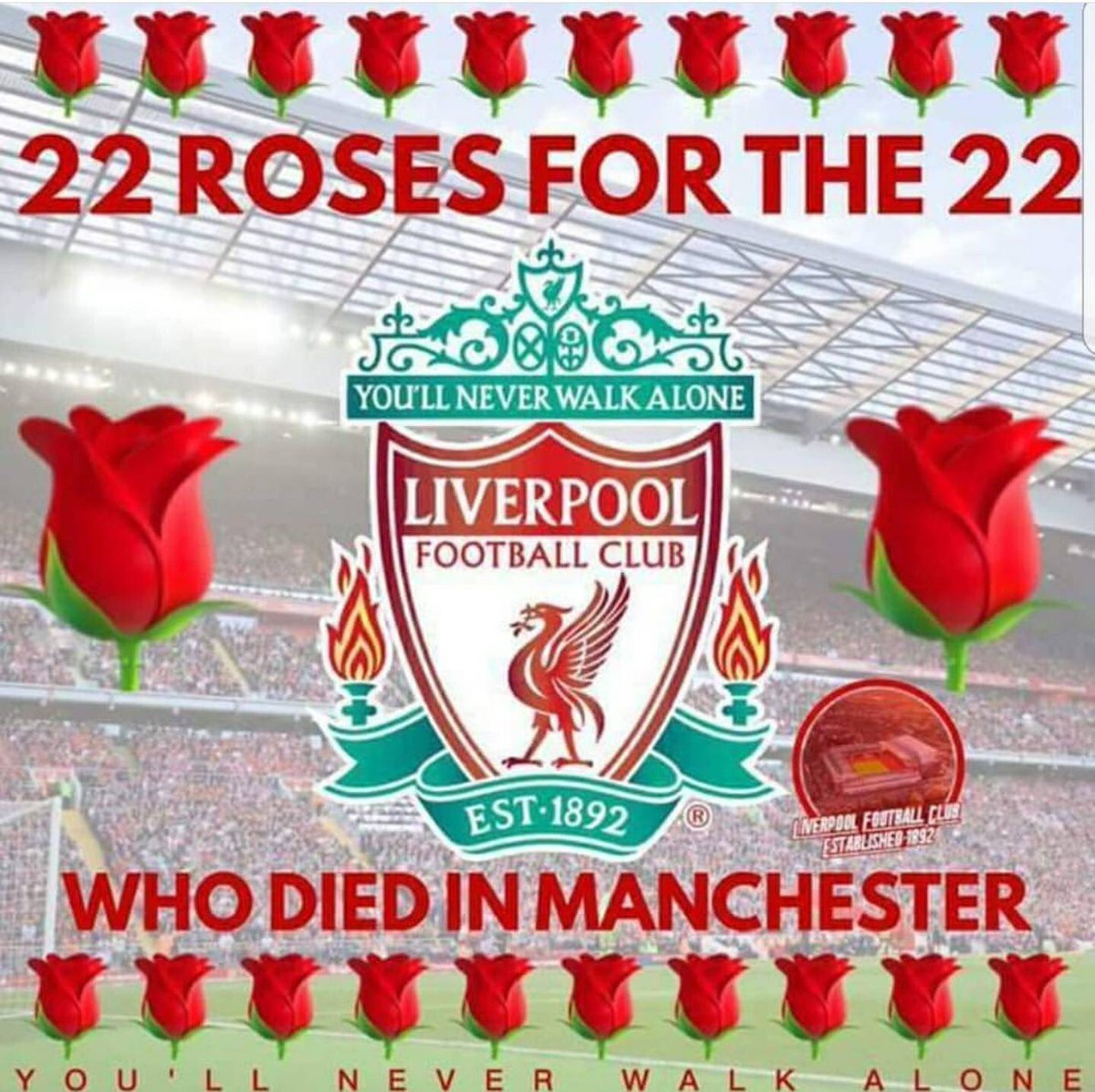 Seen this on Facebook. Copied it. Good to see fans putting life before rivalry #RIP #YNWA<br>http://pic.twitter.com/dB1JRH3pCi