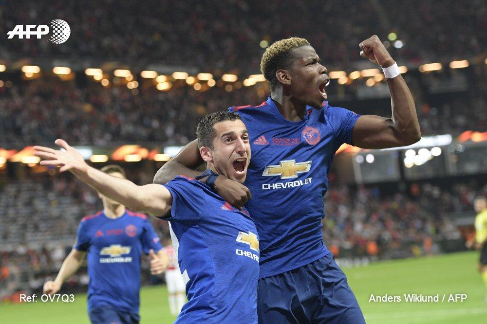 Manchester United remporte l'Europa League, 48 heures après l'attentat dans la ville #AFP