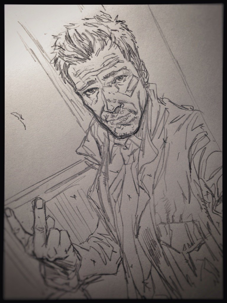 Very loose pencils for a Constantine image. Love this character. #drawing #sketches #roughs #hellblazer #Constantine<br>http://pic.twitter.com/D1tzvx09TN
