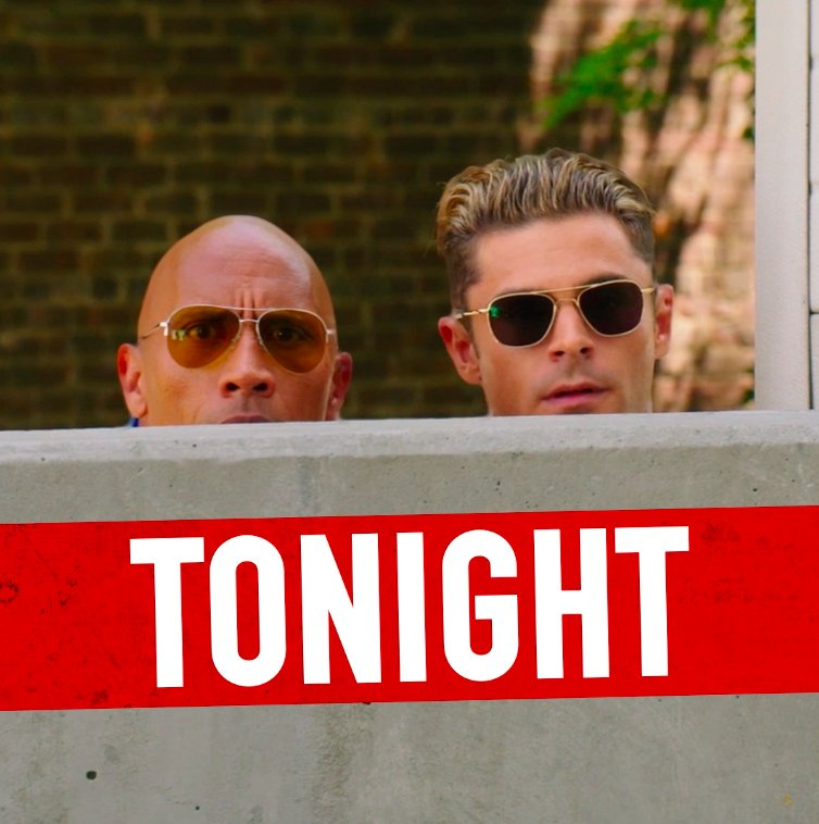Heads up! Baywatch hits theaters TONIGHT! Get your tickets now: https://t.co/YHTBuW97lN https://t.co/p0RXAmUQoH