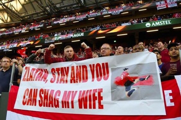The best banner in football history #Zlatan #EuropaLeague #MUFC<br>http://pic.twitter.com/dKO37xj0l6