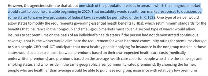 The big concession the House Freedom Caucus got was giving their states the, well, freedom to destabilize their own insurance markets