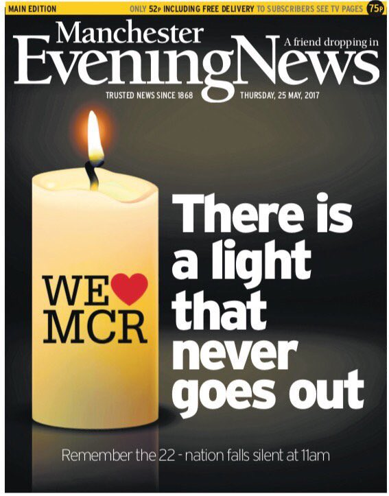 The front page of Thursday's Manchester Evening News #tomorrowspaperstoday #skypapers
