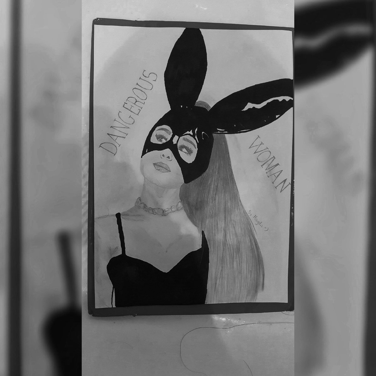 You&#39;re my life.  You&#39;re my everything.  I live you ♡  #DangerousWomanTourPoland #dangerouswoman #arianagrande #art #drawing  <br>http://pic.twitter.com/f6Q1kn7Ht9