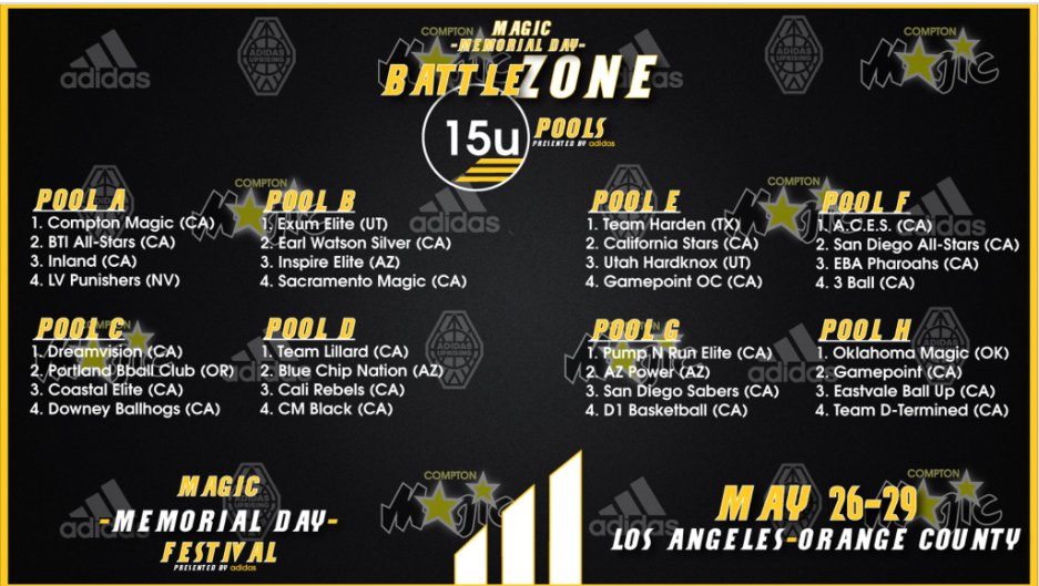 This weekend our 15U will be battling against some of the TOP teams in the country. #BattleZone #MagicMemorial @compton_magic<br>http://pic.twitter.com/ZT0QOzlz1b