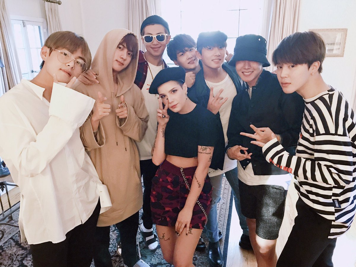 on twitter bts with halsey steveaoki stopboris