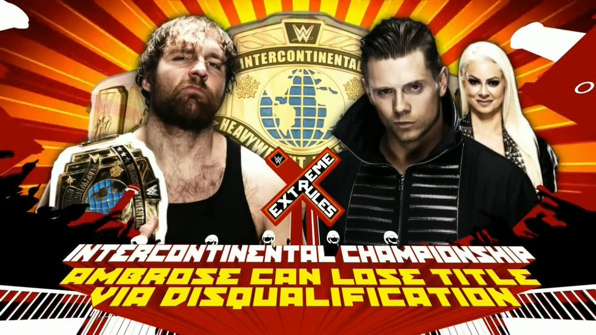 Surely Miz is winning here? The IC Title has gone back to meaning nothing, yet again, with Ambrose holding the belt. Here&#39;s hoping... #WWE <br>http://pic.twitter.com/M5vO5LnxMN