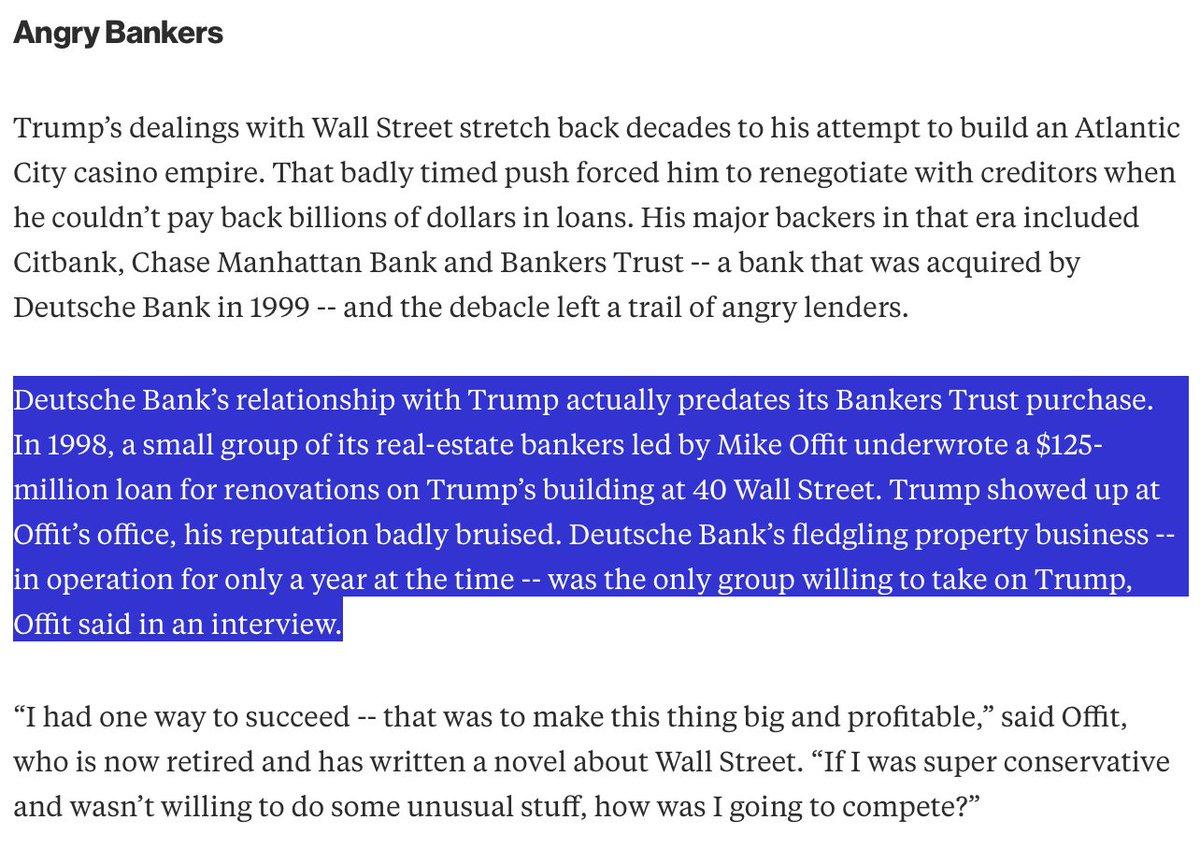 @kaienergy Trump has been in bed with Deutsche Bank since early 1990's...