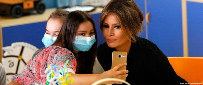 First lady Melania Trump pays a visit to Bambino Gesù children's hospital in Rome https://t.co/KtLsPA5fQM