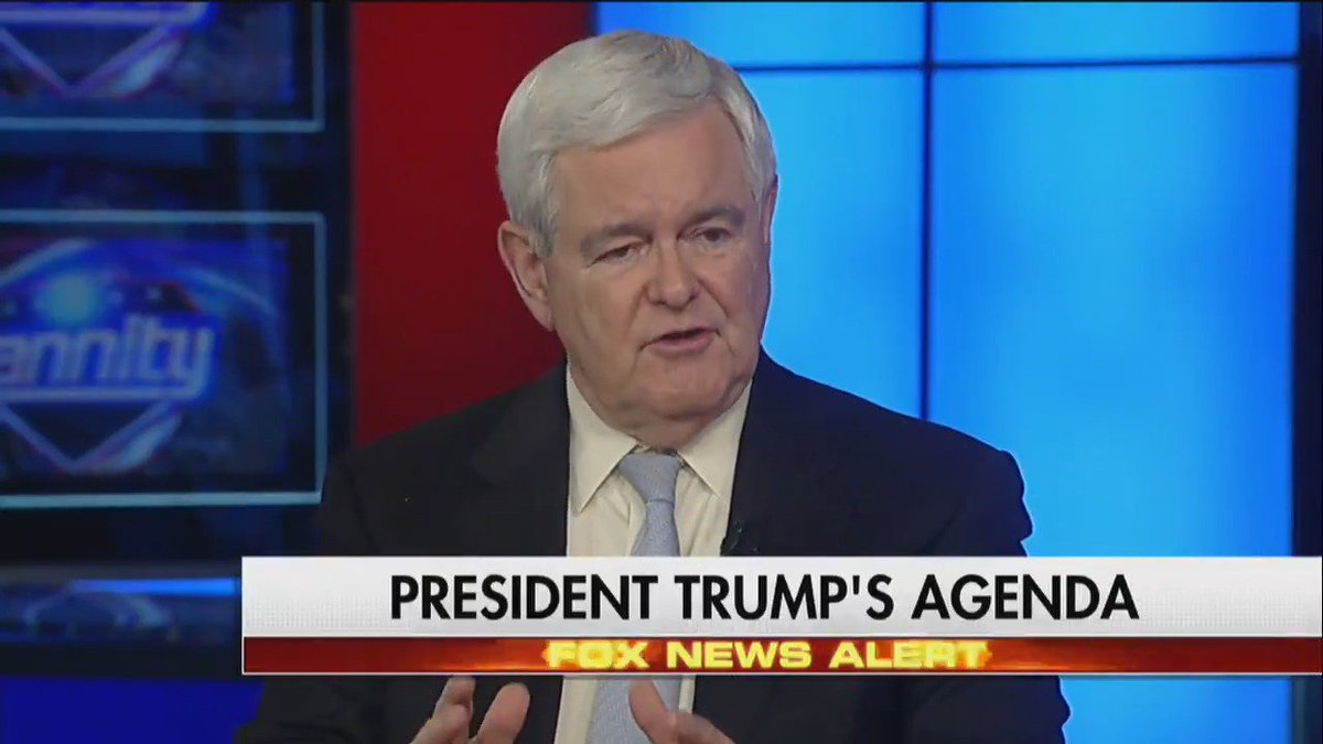 .@newtgingrich: 'The number one goal of the #Trump presidency at home has to be jobs.' #Hannity