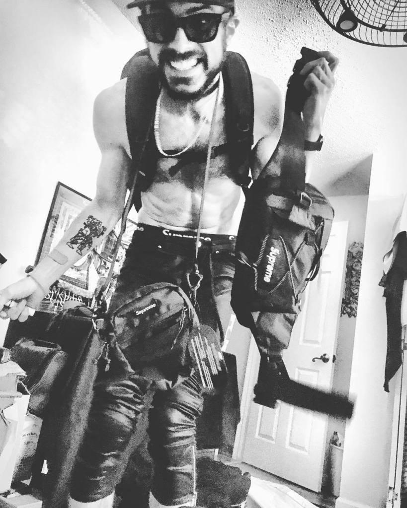 Me on package day haha geeked #hypebeast #supreme #darkart #blackonblack #  http:// ift.tt/2rWFm6j  &nbsp;  <br>http://pic.twitter.com/JFZmC0EXqE