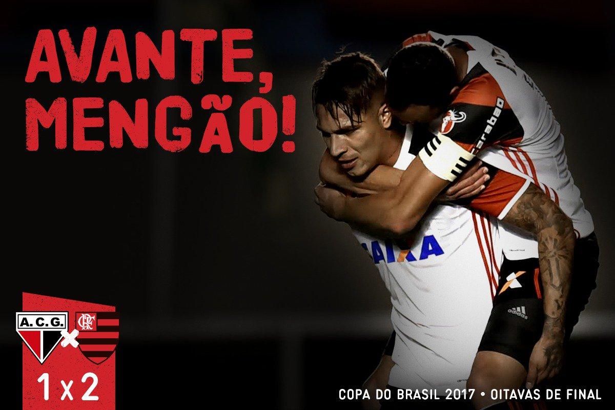 Foi suado e na marra! Guerrero e Matheus Savio marcaram e o Mengão está nas quartas da Copa do Brasil: 2x1 #AvanteMengão