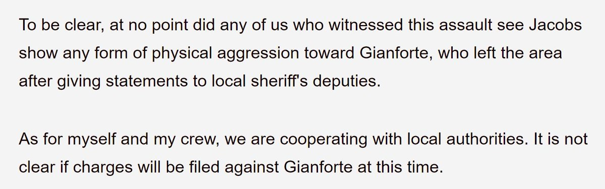 Fox News' @aacuna1, who witnessed the assault, confirms that Gianforte's statement is a lie https://t.co/dvZx4yvoGj