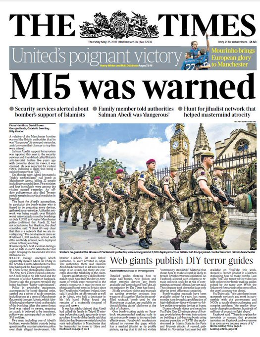 THE TIMES FRONT PAGE: 'MI5 was warned' #skypapers