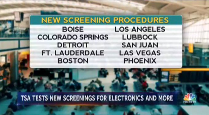 TSA is testing new security screenings at many US airports.  @tomcostellonbc explains why now on @NBCNightlyNews.