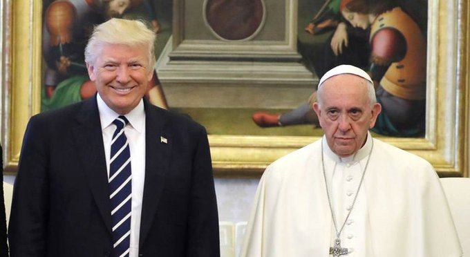 'I won't forget what you said,' Pres. Trump told the Pope after their meeting at Vatican.   @HallieJackson reports now on @NBCNightlyNews.