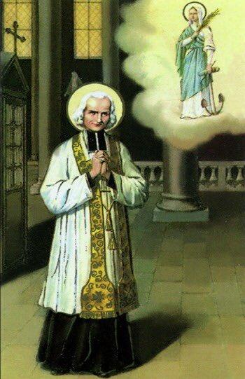 &quot;To St. Philomena, God refuses nothing.&quot; #StJohnVianney @Catholic_Notes #saint <br>http://pic.twitter.com/O4BKK9nDP2