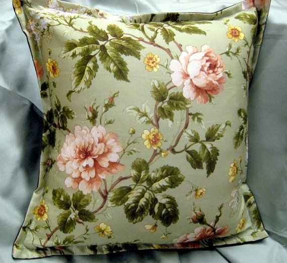 Custom Shams 2 &quot;New&quot; Ralph Lauren Fabric 16&quot; x 16&quot; Yorkshire Rose Handmade  http:// goo.gl/kQ8NcP  &nbsp;   #Bed #Bath <br>http://pic.twitter.com/7saW5RVcKj