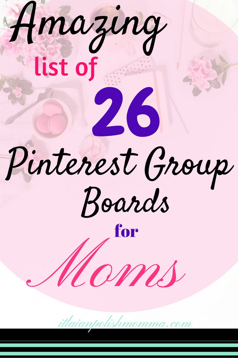 Looking for some #Pinterest #Group #Boards to join? Check out my amazing #list of 26 #Boards for #moms!  http://www. italianpolishmomma.com/list-of-26-pin terest-groups-boards-for-moms/ &nbsp; … <br>http://pic.twitter.com/0domtxDs3z