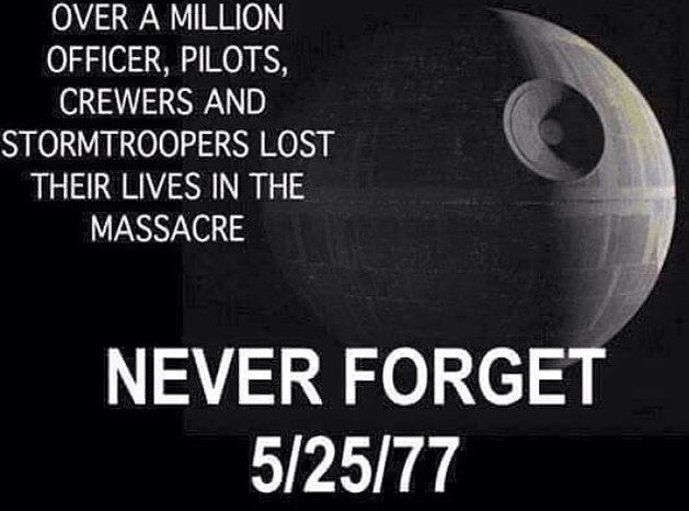 #StarWars #starwars40th #StarWars40   Let Us Not Forget.. #DarkSide<br>http://pic.twitter.com/Lv2USdStfE