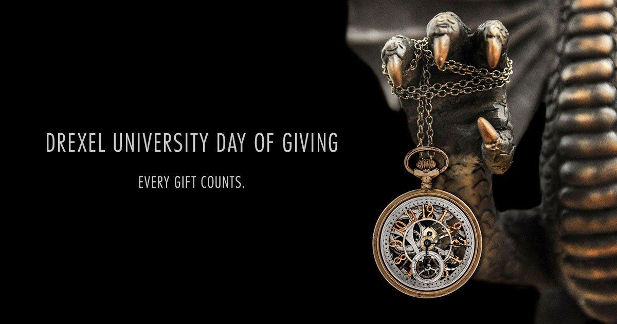 Make a #Drexel gift and help unlock A.J. Drexel's secret time capsule! #Drexel24 - https://t.co/IBzT1iUww7 https://t.co/ZkAcLIBKIN