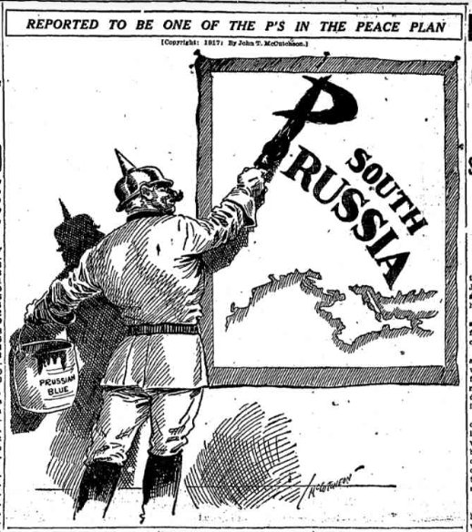 May 24, 1917 - Chicago Tribune cartoon accuses Germany of wanting to annex Ukraine (it nearly would with Brest-Litovsk treaty) #100yearsago