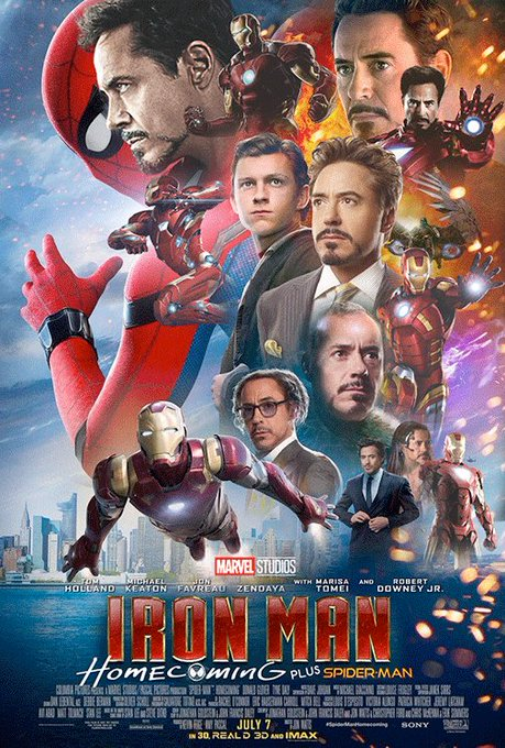 Whoa guys, I'm starting to think that Iron Man might show up in this #SpiderManHomecoming movie.