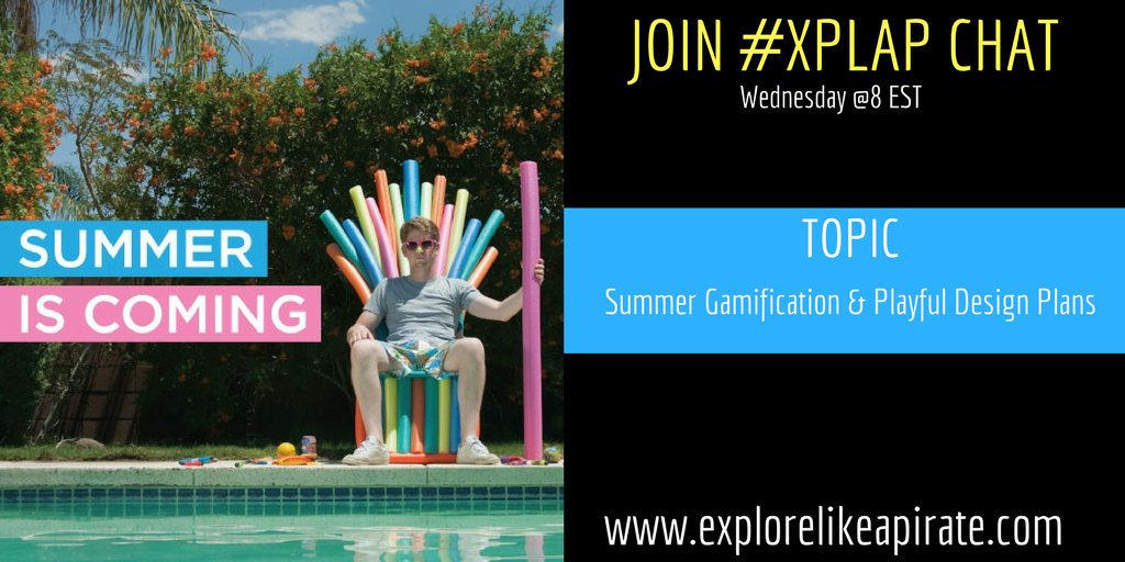 Welcome to #XPLAP chat!  Please introduce yourself & share what you are most looking forward to for summer! https://t.co/lewBx3z41e