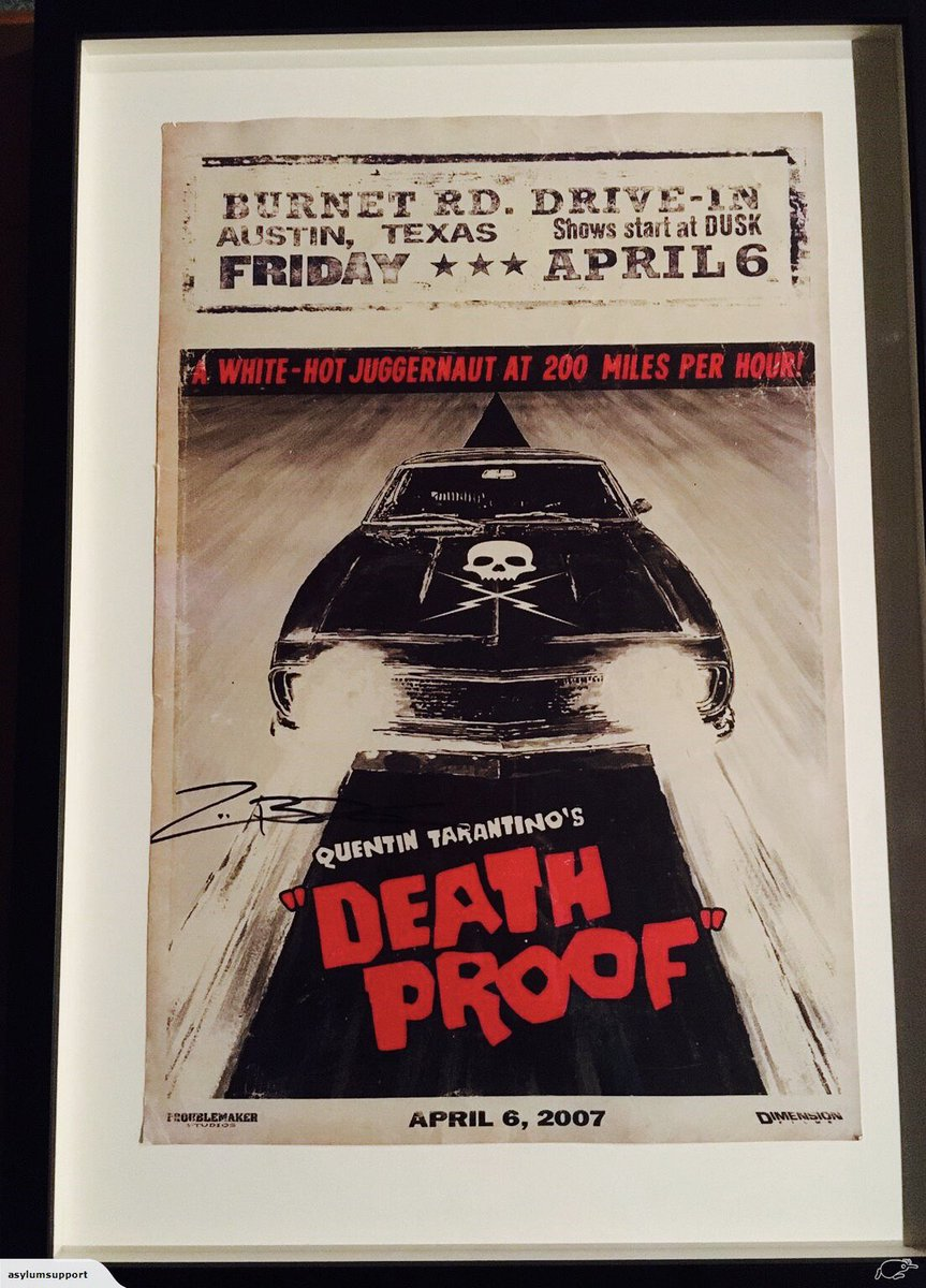 Donated a signed Death Proof #movieposter for @frameworks4asst #artauction #bidnow to #supportasylumseekers  http://www. trademe.co.nz/Browse/Listing .aspx?id=1327570467&amp;ed=true &nbsp; … <br>http://pic.twitter.com/mIjm85g5aL