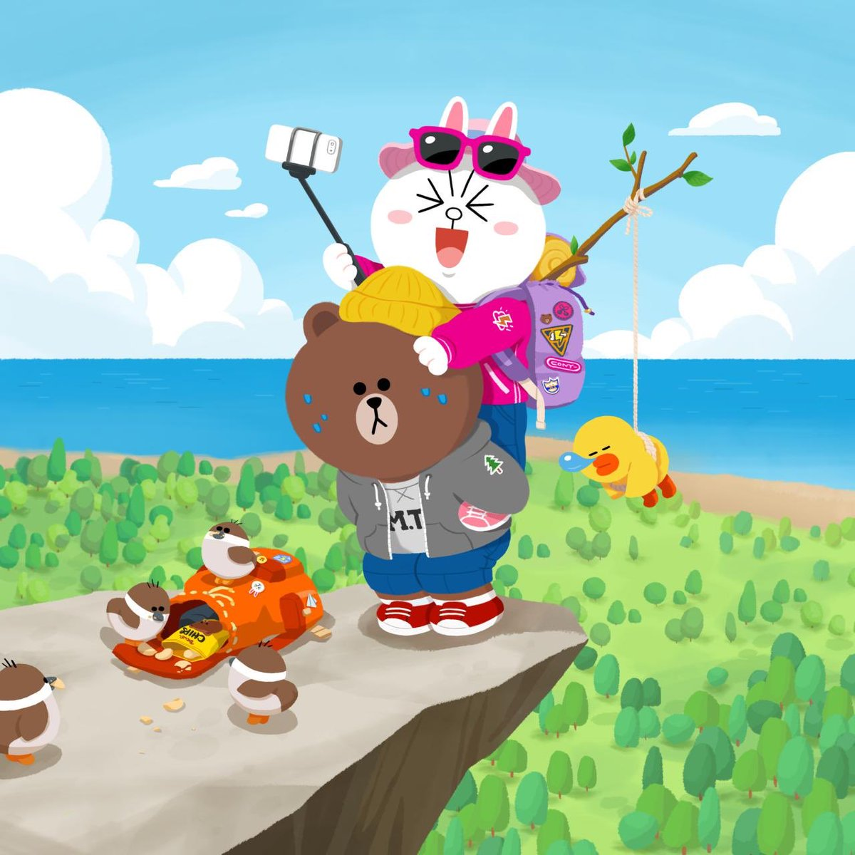 Selfie Level : Expert  #extreme #selfie #getting #sweaty #BROWN #CONY #SALLY #LINEFRIENDS<br>http://pic.twitter.com/pj50IW9qg7
