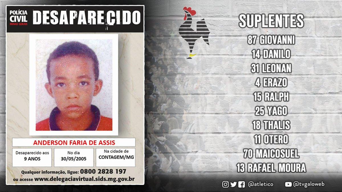 Suplentes / Qualquer informação sobre Anderson Faria de Assis, ligue 0800 2828 197 ou acesse https://t.co/cr17dHXaXG