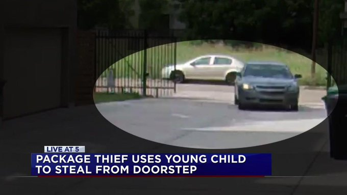 KIDDIE CULPRIT: Package thief enlists small child to help with crime as underage accomplice https://t.co/FkVBfsg9KN