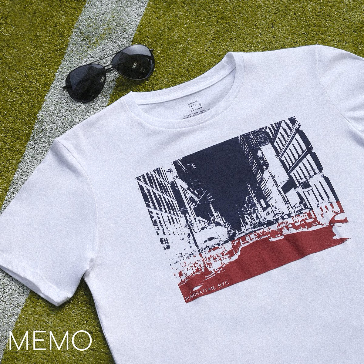 Living the NYC way. Get this tee and optics for P399 each. #ChasingSummer #MemoFashion #graphictee #prints #optics<br>http://pic.twitter.com/MmV2moaTn1