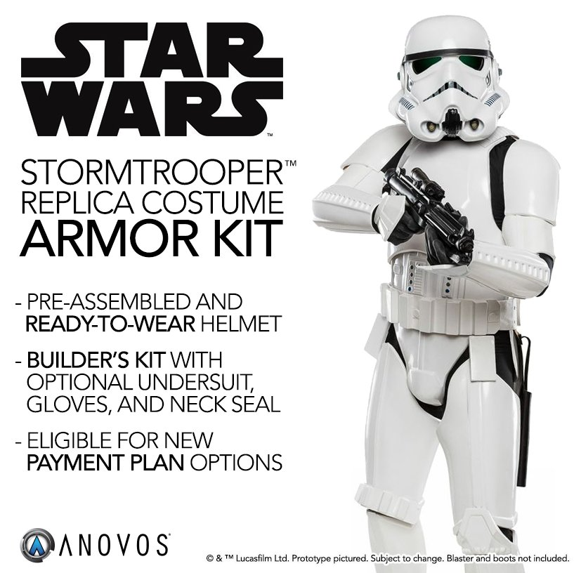 Our best-selling Imperial Stormtrooper armor kits are coming back! Reserve your spot today:  http:// bit.ly/28ZMiYQ  &nbsp;   #StarWars #ANOVOS <br>http://pic.twitter.com/3z2AnZAYt7