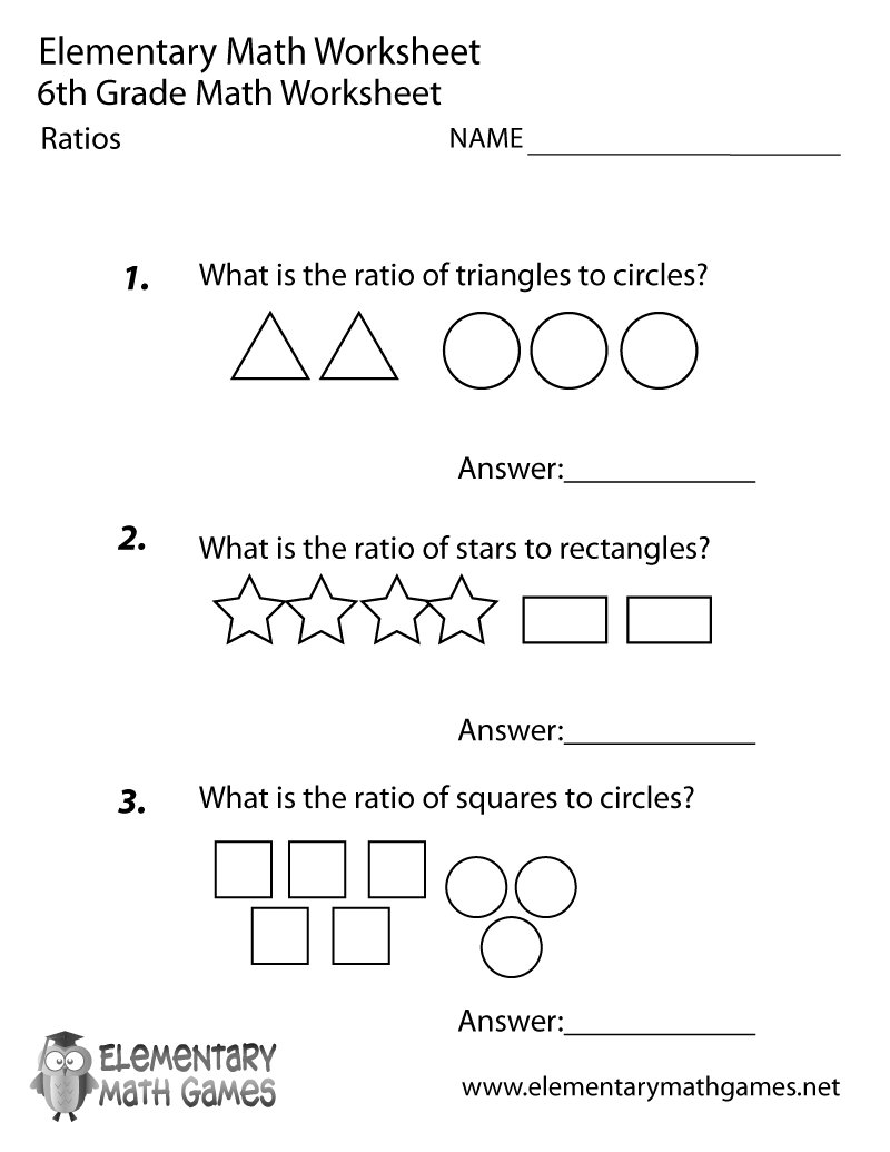 Worksheets Free Math Worksheets 6th Grade elementary math elementarygames twitter 0 replies retweets likes
