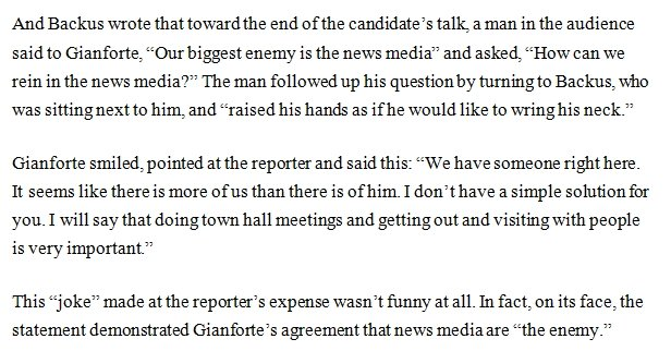 Gianforte made a joke about attacking a reporter at his birthday event with a Christian group last monthhttps://t.co/JXJjbye2K3.