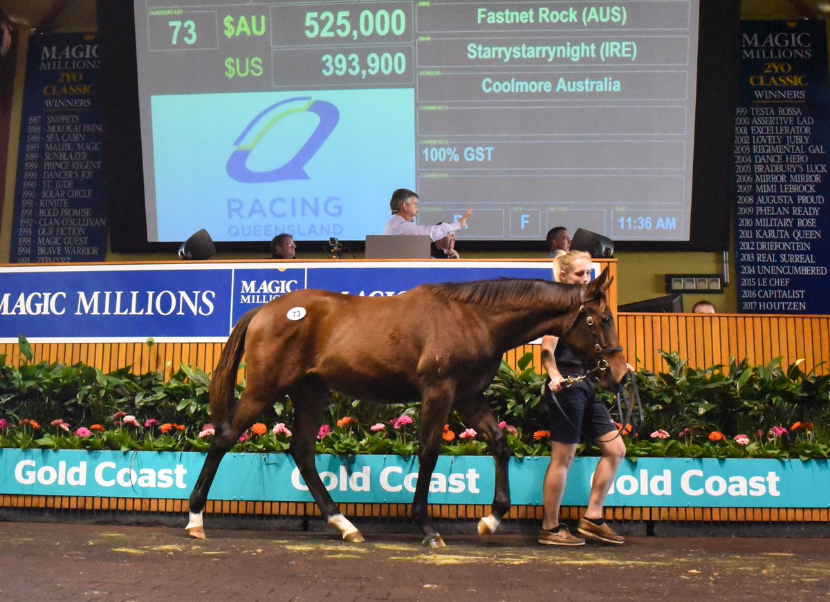 Congrats @SegenhoeGroup! $525,000 for @CoolmoreAus&#39;s half sister to G1 wnr Gust Of Wind! Another #star on day 1 of the #NationalWeanlingSale<br>http://pic.twitter.com/K2GAGTjiFj
