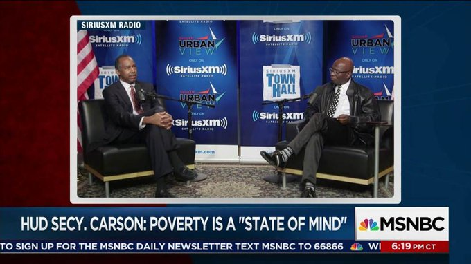 Ben Carson: Poverty is a 'state of mind' https://t.co/wDqCwbnWam