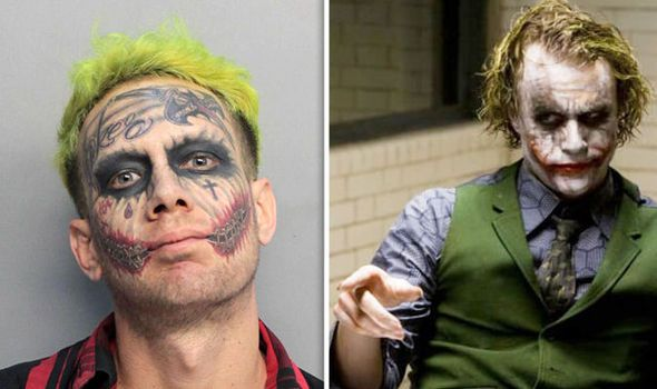 Man with 'Joker' face tattoos 'arrested for pointing loaded gun at motorists' https://t.co/kHyphpAhEs