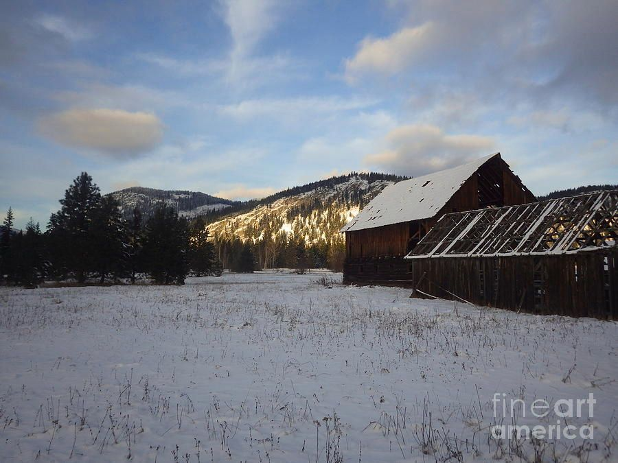 Old Barn 2 by Victor K Moody #landscape  #fineart #romantic #winter #snow #farming #barn #wallart #art   http:// buff.ly/2rMOV8x  &nbsp;  <br>http://pic.twitter.com/0iVGzguc09