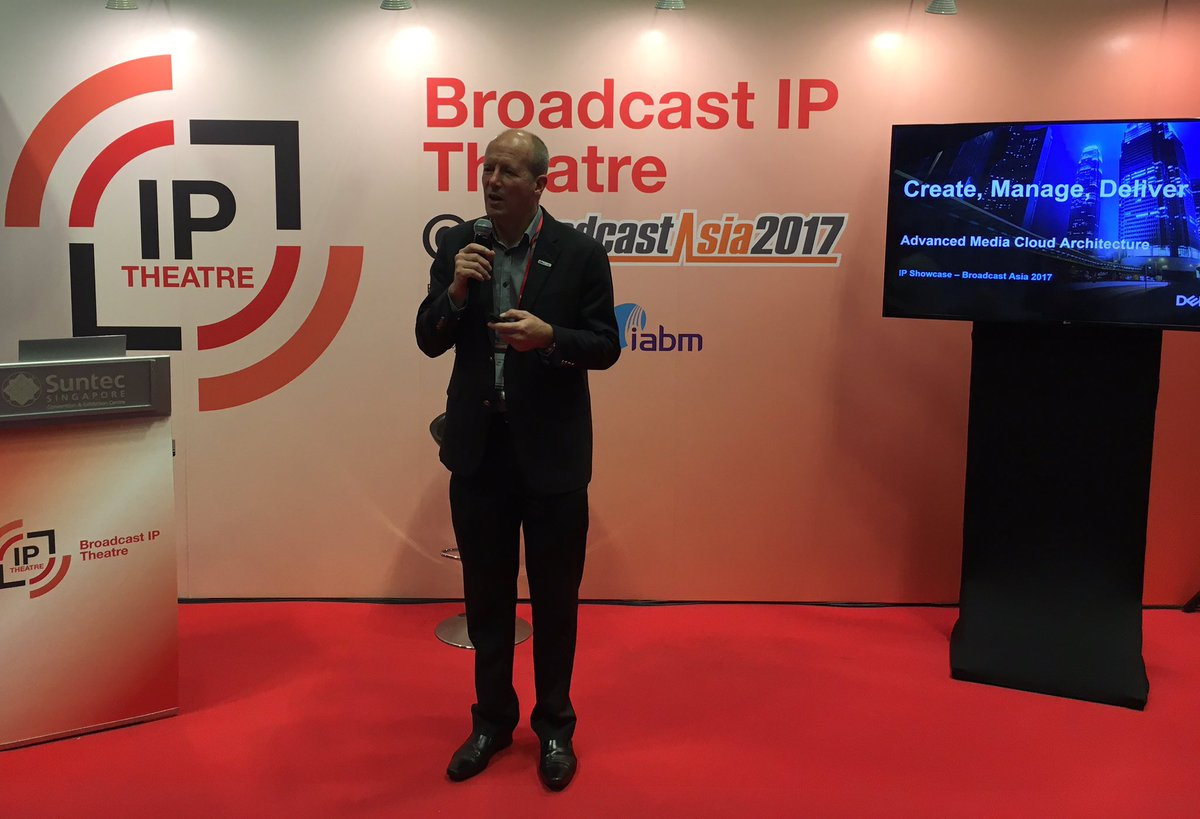 #BroadcastAsia2017 @CharlesSevior @DellEMC speaking @TheIABM Broadcast IP Theatre #create #manage #deliver #ip<br>http://pic.twitter.com/PHxuK4XFcI