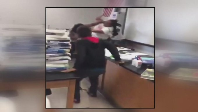 SHOCKING: A violent fistfight between a teacher and a staff member and students say the school tried to cover it up https://t.co/meg3YZxWSp