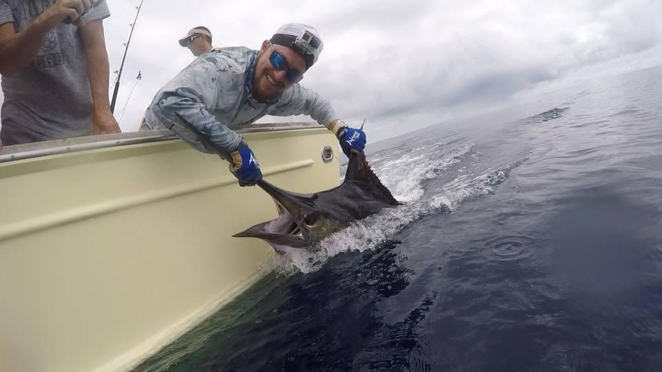 Los Suenos, CR - Geaux Fly released a Grand Slam (3 Sailfish, Blue Marlin, Striped Marlin).