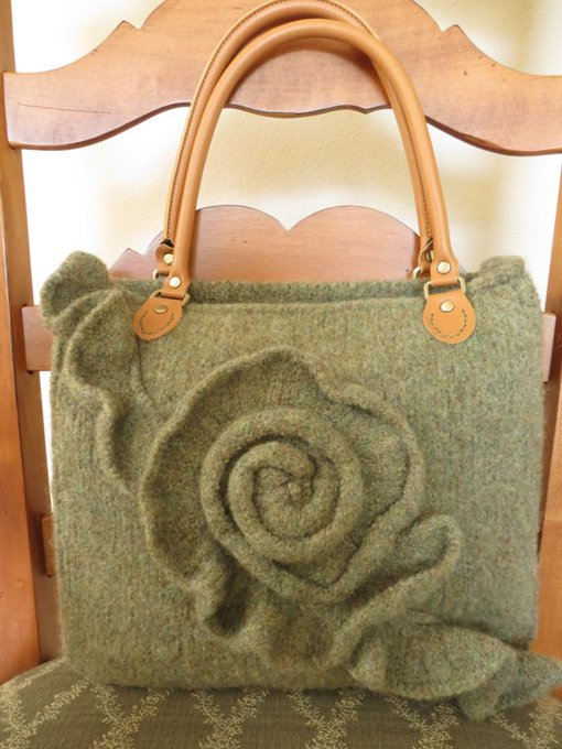 Knit and Felted Purse Pattern, Knit Bag Pattern