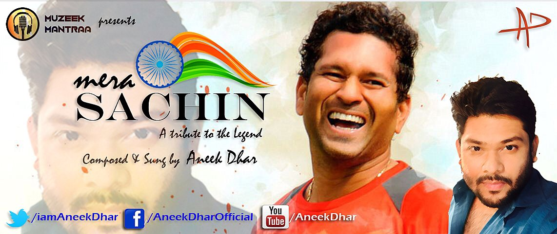 #MeraSachin A tribute to the legend @sachin_rt Join the multi talented  @iamAneekDhar #LIVE on his #Facebook page #AneekDharOfficial at 1pm.<br>http://pic.twitter.com/L4Ex16meYp